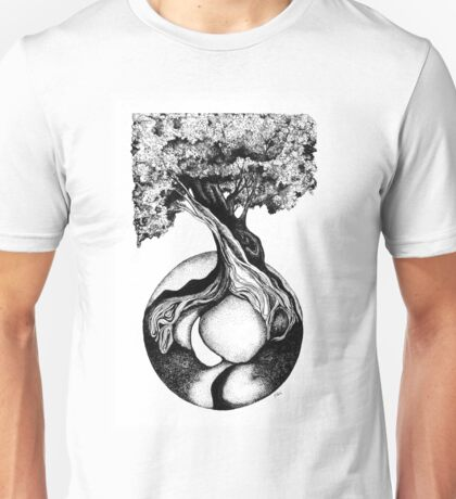 Tree of Life, Ink Drawing Unisex T-Shirt