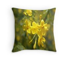 Fragrant Yellow Flowers Of Carolina Jasmine  Throw Pillow