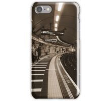 The Art of London Underground - Bakerloo Line at Waterloo Station iPhone Case/Skin