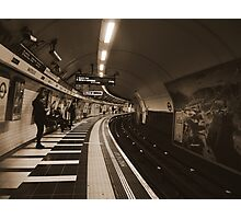 The Art of London Underground - Bakerloo Line at Waterloo Station Photographic Print