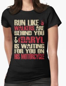 Run with Daryl Womens Fitted T-Shirt