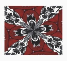 Red Black and White Kaleidoscope Kids Clothes