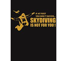 SKY DIVING Photographic Print