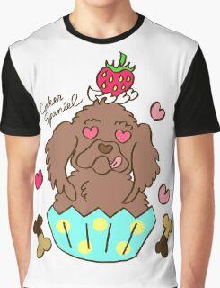 Cooker Spaniel Cupcake - Chocolate Graphic T-Shirt