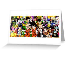 DB characters Greeting Card