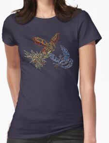 Neon birds Womens Fitted T-Shirt