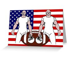 let's play football Greeting Card