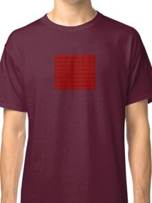 Climbing Red Roses Abstract Classic T-Shirt