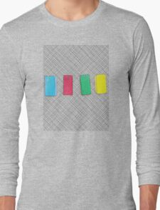 Graphic primary colour blocks Long Sleeve T-Shirt