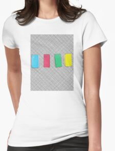Graphic primary colour blocks Womens Fitted T-Shirt