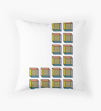 TETRIS COLLECTION Shape D Throw Pillow