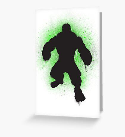 Hulk SMASH Banksy! Greeting Card