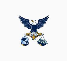 Bald Eagle Hold Scales Earth Money Retro Unisex T-Shirt