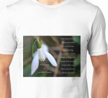 The Snowdrop by Lord Alfred Tennyson Unisex T-Shirt