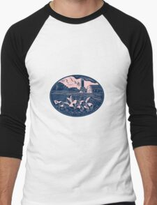 Cranberry Fruit Farm Oval Woodcut T-Shirt