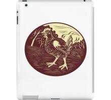 Hen Farm Oval Woodcut iPad Case/Skin