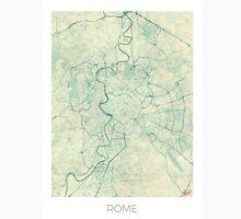 Rome Map Blue Vintage Unisex T-Shirt