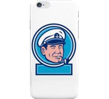 Sea Captain Smoking Pipe Circle Retro iPhone Case/Skin