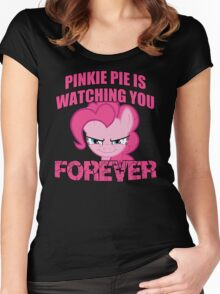 Pinkie Pie is Watching You Forever Women's Fitted Scoop T-Shirt