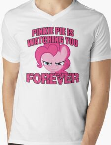 Pinkie Pie is Watching You Forever Mens V-Neck T-Shirt