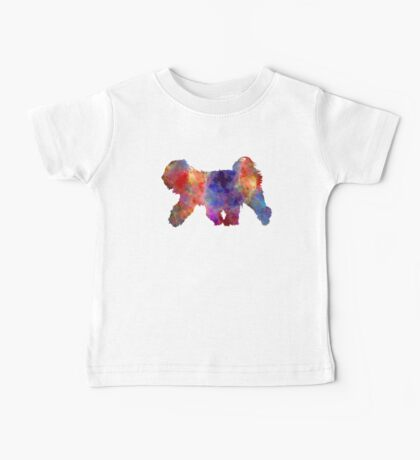 Tibetan Terrier in watercolor Baby Tee