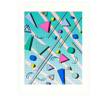 80s pop retro pattern 4 Art Print