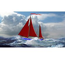 S/Y Magali, My Cutter Rigged Ketch Photographic Print