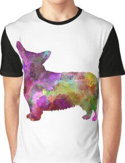 Welsh Corgi Cardigan in watercolor Graphic T-Shirt