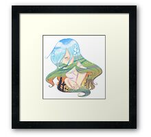 ireland girl  Framed Print