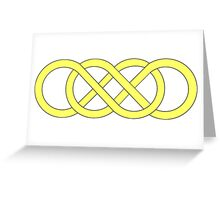 infinity tattoo sign squared song ring beyond revenge project eternity double one direction Greeting Card