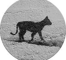 Black Cat Graffiti Street Art in Portugal by Silvia Neto