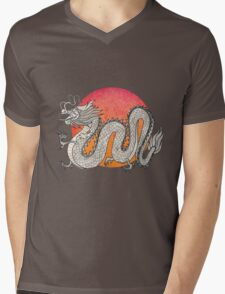 Champagne Dragon Mens V-Neck T-Shirt