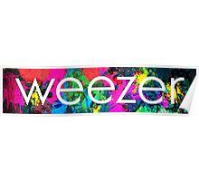 weezer logo paint splatter  Poster