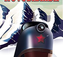 novosibirsk locomotive travel poster by Nick  Greenaway