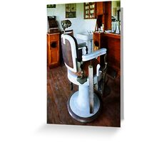 Barber Chair And Cash Register Greeting Card