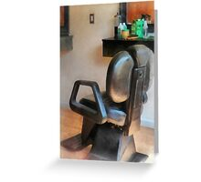 Barber Chair and Hair Supplies Greeting Card