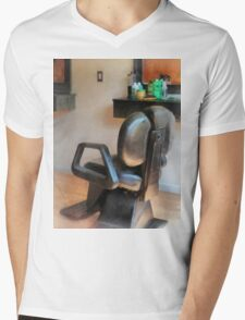 Barber Chair and Hair Supplies Mens V-Neck T-Shirt