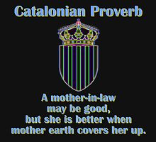 A Mother In Law May Be Good - Catalonian Proverb by CrankyOldDude