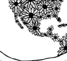 Flower earth drawing Sticker