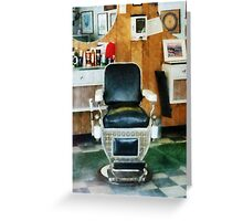 Barber Chair Front View Greeting Card