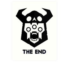 The End - Black Version Art Print