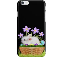 Bunny in a basket iPhone Case/Skin