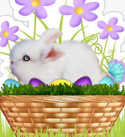 Bunny in a basket Sticker