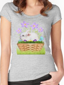 Bunny in a basket Women's Fitted Scoop T-Shirt