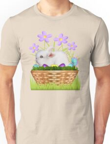 Bunny in a basket Unisex T-Shirt
