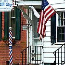 Barber Shop Entrance by Susan Savad