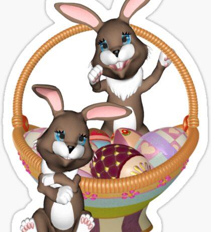 Cute Easter bunnies Sticker