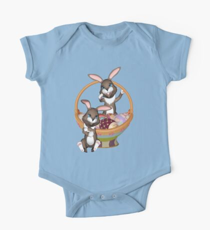 Cute Easter bunnies One Piece - Short Sleeve