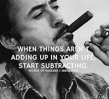 When things aren't adding up in your life, start subtracting by Draw2LUV