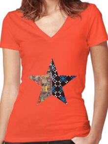 star combo only Women's Fitted V-Neck T-Shirt